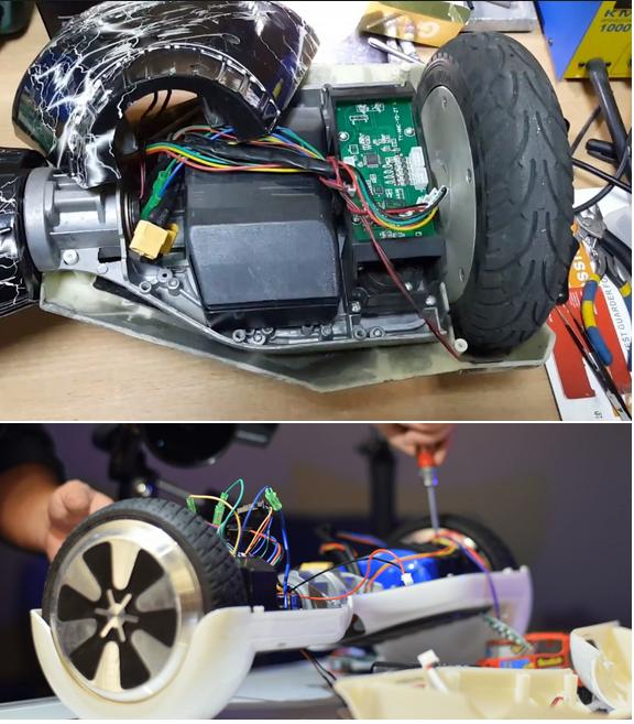 ремонт батареи гироскутера